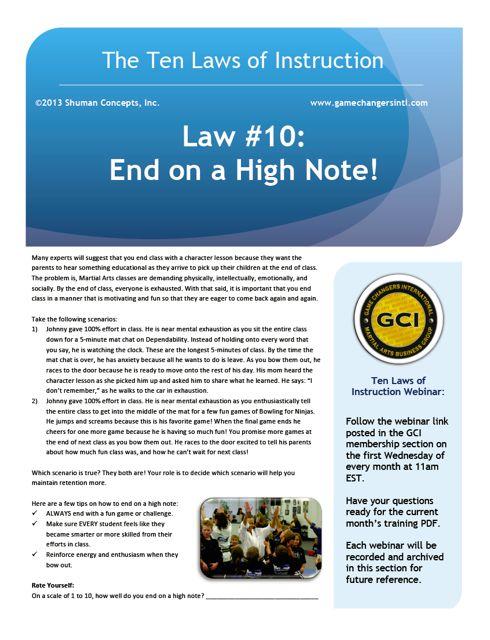 Law #10 PDF
