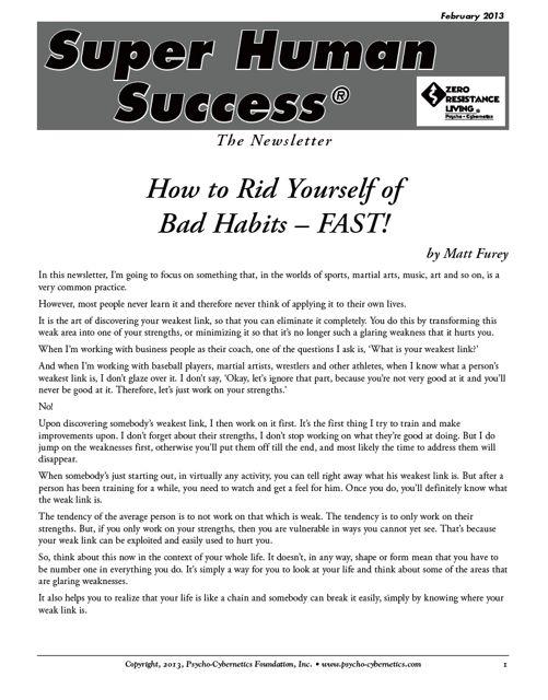 Rid Yourself of Bad Habits