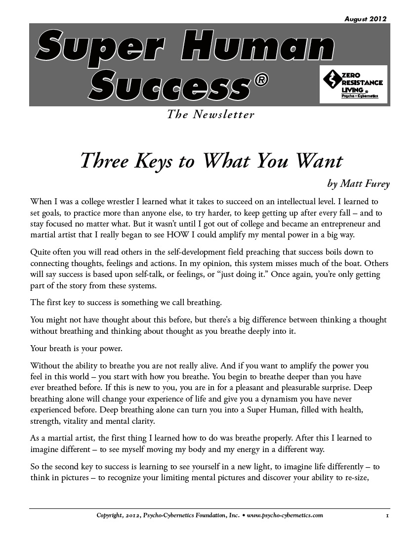 Three Keys to What You Want