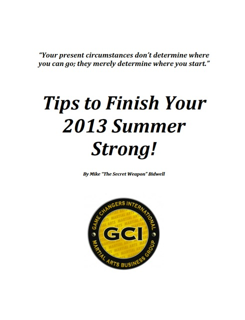 Tips to Finish Your Summer Strong!